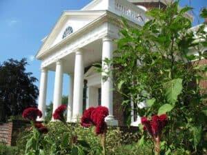 The west portico of Monticello
