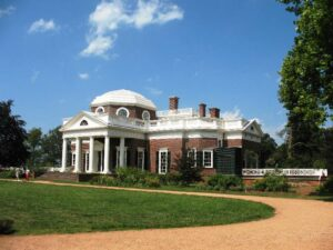 Monticello from the west gardens