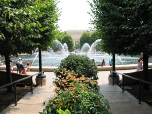 Sculpture garden at the National Gallery of Art in Washington DC