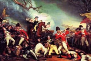 Revolutionary War painting by Trumbull