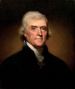 Thomas Jefferson portrati by Peale