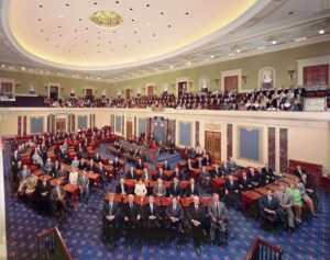 US Senate sitting for their official portrait
