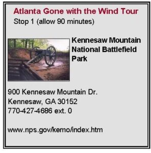 Gone with the Wind Tour First Stop