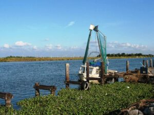 A shrimper's boat at Bayou Lafourche.
