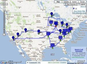 My American Odyssey Route
