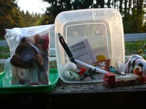 A typical geocache.