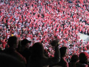 The crowd at Ohio Stadium for Wisconsin vs Ohio State game.