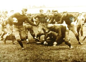 Early football scrum