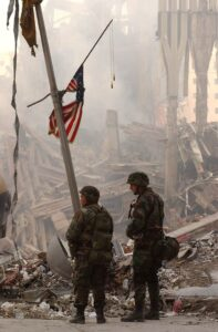 National Guard at the World Trade Center collapse in 2001.