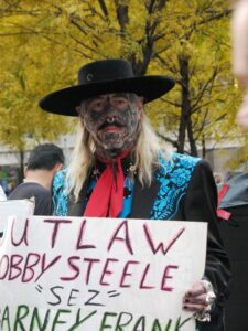 A tattoed cowboy at Occupy Wall Street.