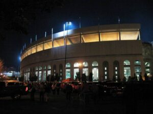 "Ohio Stadium, known as ""The Shoe"", seats 100,000 fans."
