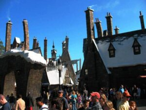 The main street of Harry Potter's World of Wizarding