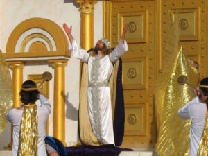 The climax of the He is Risen show at The Holy Land Experience