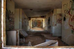 Hallway of Concho Indian School