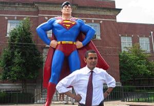 Barack Obama and Superman