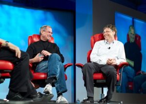 Steve Jobs and Bill Gates together