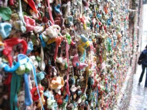Chewing gum wall at Pike Place Market