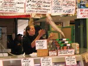 Fish tossing at Pike Place Market