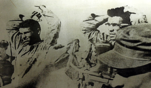 Cuban exiles captured at the Bay of Pigs invasion.