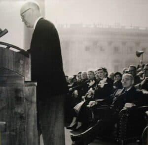 Eisenhower and Truman at Eisenhower's inauguration.