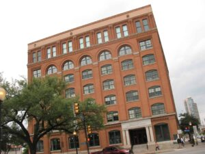 Texas School Book Depository, where the shot that killed Kennedy was fired