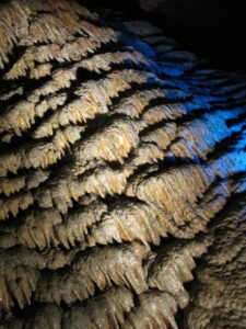 Dripston mineral formation in Meramec Caverns.
