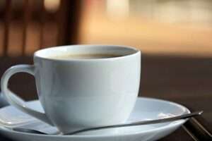 A cup of coffee at Yazoo Pass