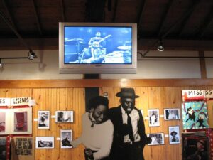 Exhibits at the Delta Blues Museum in Clarksdale, MS