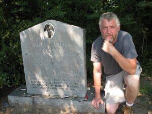 Malcolm Logan at Sonny Boy Williamson's gravesite near Tutwiler, MS