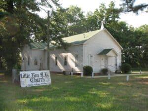 Robert Johnson's gravesite at Little Zion Missionary Baptist Church outside Greenwood, MS