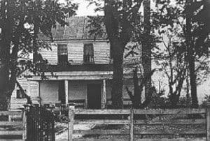 Garrett's farm, site of John Wilkes Booth killing, as it appeared in 1865.