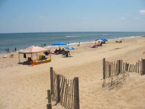 Beach at Nags Head on the Outer Banks of North Carolina