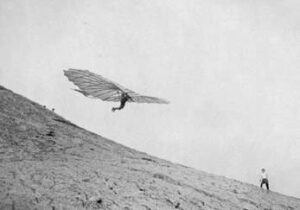 Otto Lilienthal hang gliding in Germany 1898