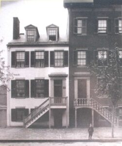 1865 image of Mary Surratt's boarding house in Washington DC
