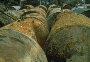 Barrels at Love Canal