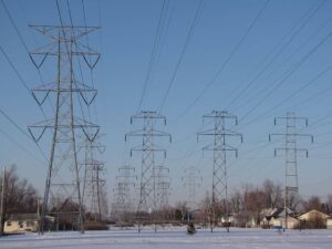 High tension power lines
