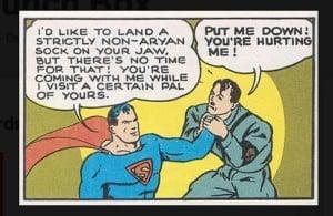 Superman socks Hitler