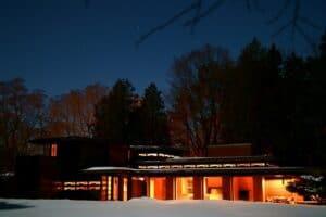 Bernard Schwartz House at night
