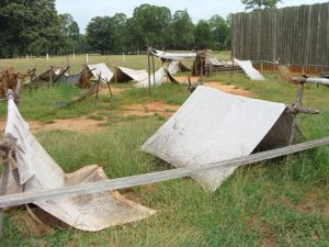 Tents at Andersonville prison