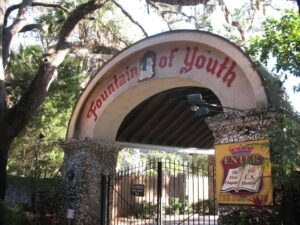 Entrance to the Fountain of Youth Archeological Park in St. Augustine, FL