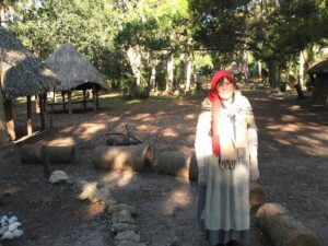 Re-enactor dressed as a Timucua Indian