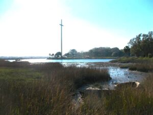 The estuary at St. Augustine seen from The Fountain of Youth Park