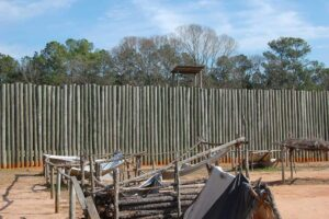 Stockade wall at Andersonville National Historic Site