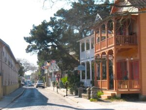The streets of St. Augustine, Florida