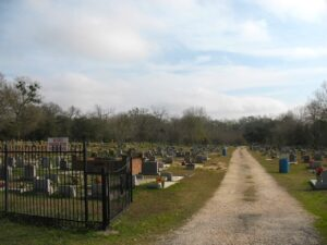 The graveyard at Africatown