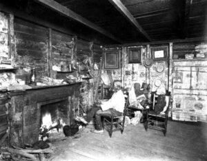 Cudjoe Lewis in his cabin
