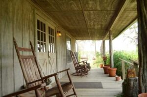 Front porch of the Running R Ranch