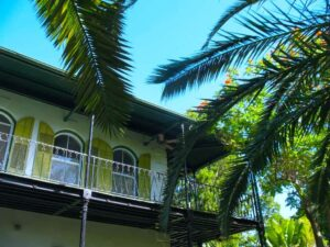 Upper story of Hemingway Home and Museum in Key West