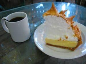 Key lime pie at Blue Heaven in Key West