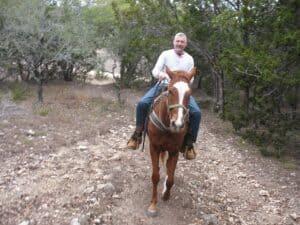 Malcolm Logan at Running R Ranch in Bandera, TX